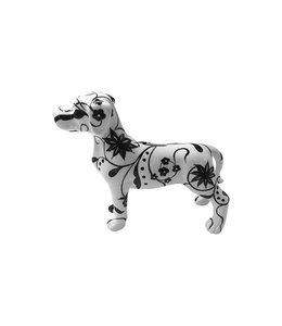 Spaarpot Hond Met Bloemenpatroon