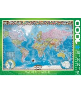 Eurographics Puzzel - Map of the World (1000)