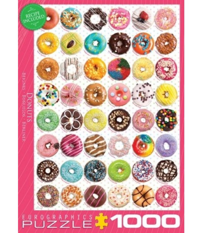 Eurographics Puzzel - Donuts (1000)