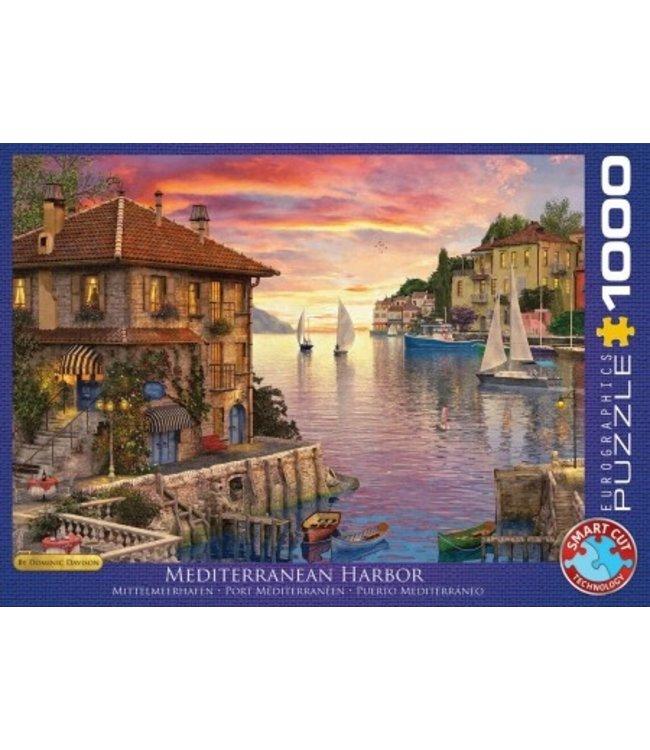 Eurographics Puzzel - Mediterranean Harbor - Dominic Davison (1000)