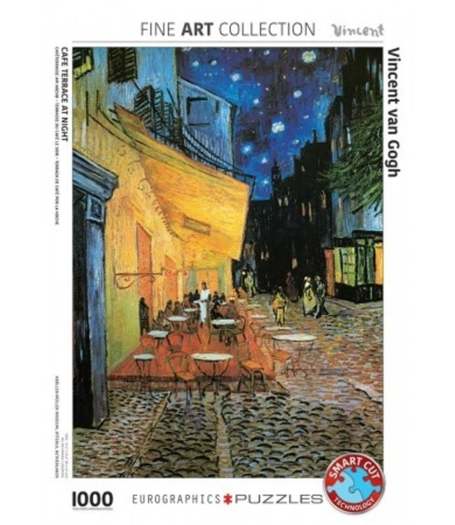 Puzzel - Café Terrace at Night - Vincent van Gogh (1000)