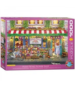 Eurographics Puzzel - Plush Petals Flower Shop - Paul Normand (1000)