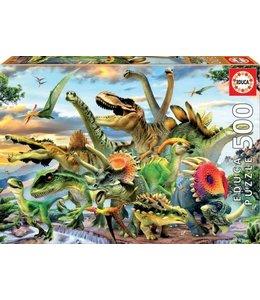Educa Puzzel - Dinosaurs (500)