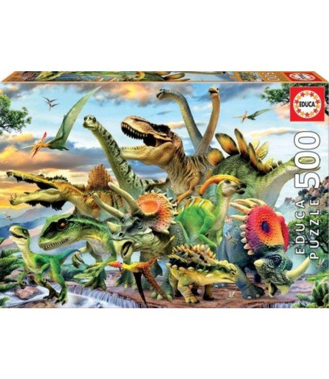 Puzzel - Dinosaurs (500)
