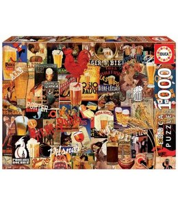 Educa Puzzel - Vintage Beer Collage (1000)