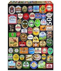 Educa Puzzel - Bier Etiketten (1500)