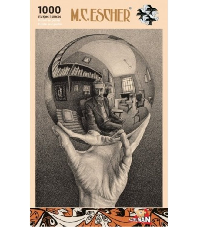 Puzzelman Puzzel - Hand met Spiegelende Bol - M.C. Escher (1000)