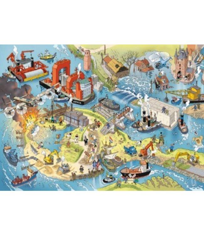 Puzzelman Puzzel - Waterwerken - Danker Jan (1000)