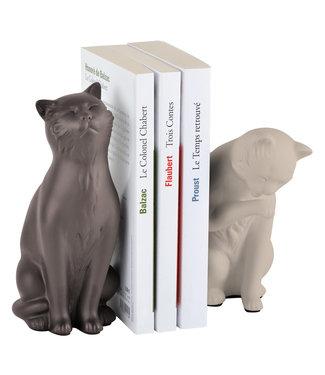 Boekensteun Katten, beige-taupe