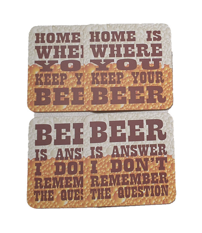 Onderzetters - Home is where you keep your beer
