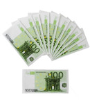 Servetten Eurobiljetten