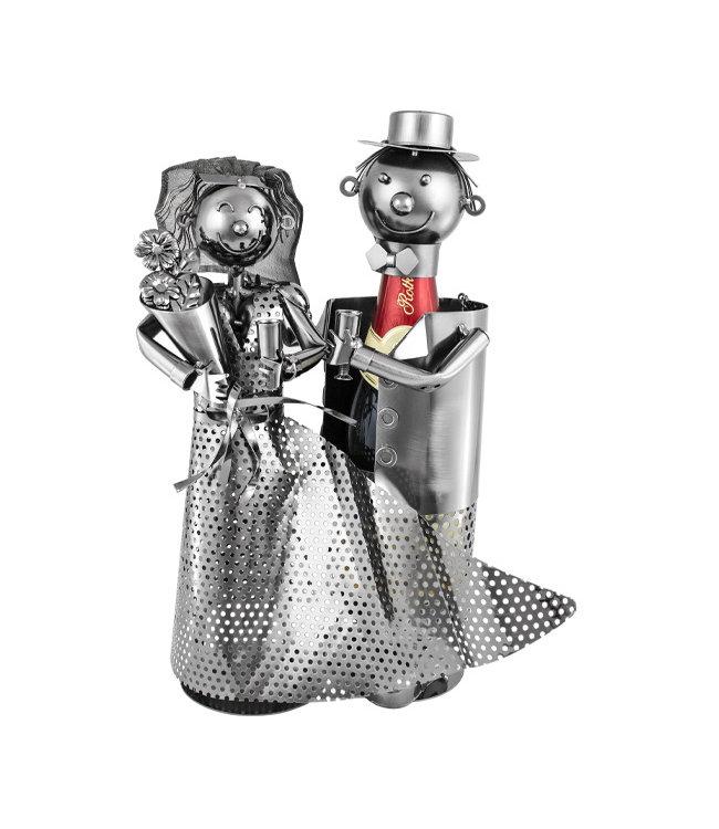 Wijnfleshouder Bruidspaar