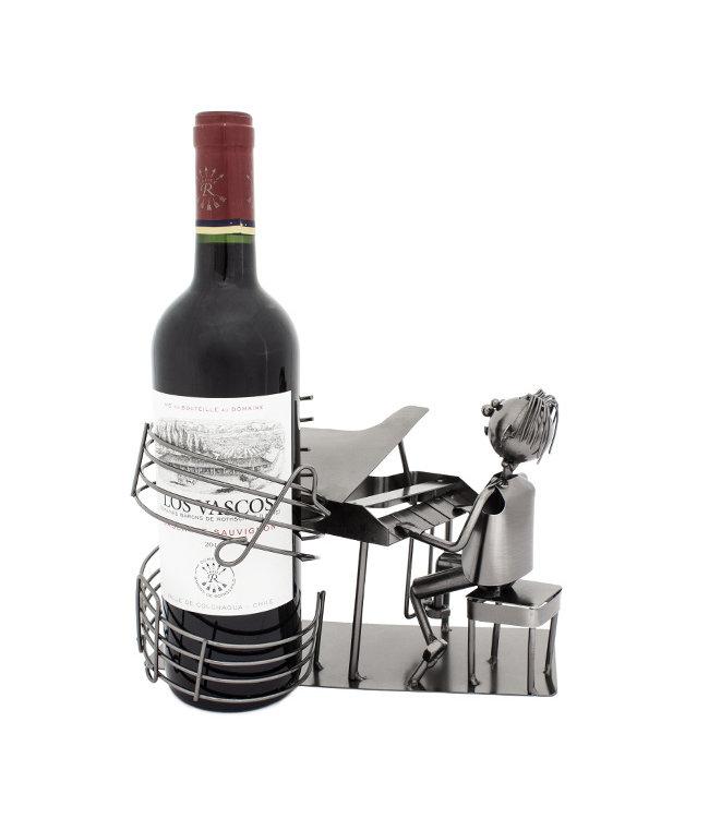 Wijnfleshouder Pianist