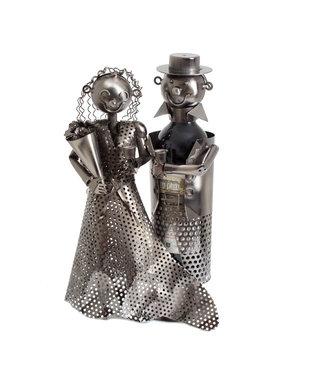 Wijnfleshouder Bruid en Bruidegom