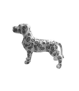 Spaarpot Hond Met Rondjespatroon