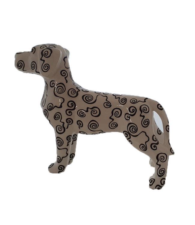 Hond Met Rondjespatroon  XL