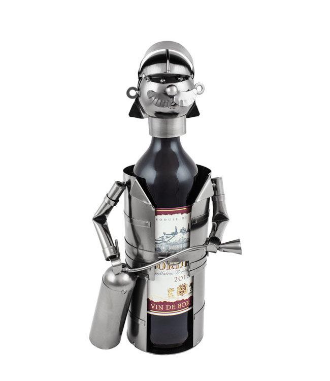 Wijnfleshouder Brandweerman met Poeder