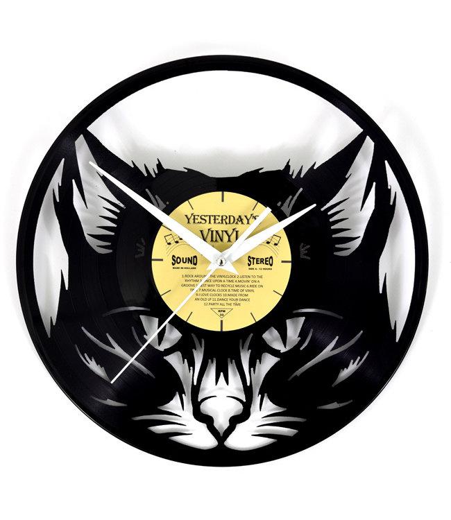 Wandklok Vinyl Boze Kat