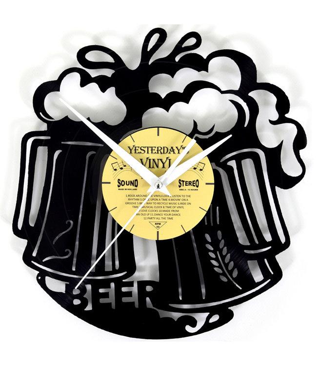 Wandklok Vinyl Proosten Met Bier
