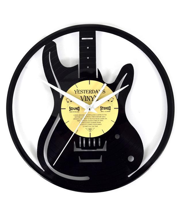 Wandklok Vinyl Gitaar