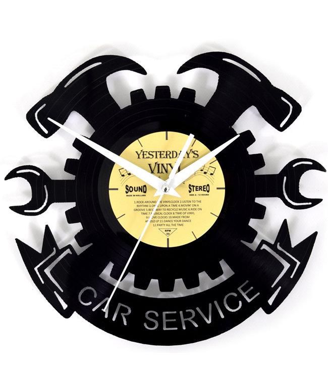 Wandklok Vinyl Car Service