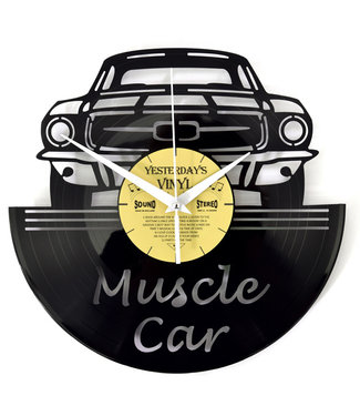 Wandklok Vinyl Muscle Car