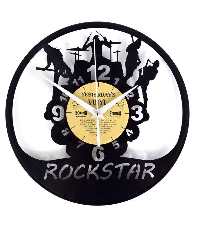 Wandklok Vinyl Rockband