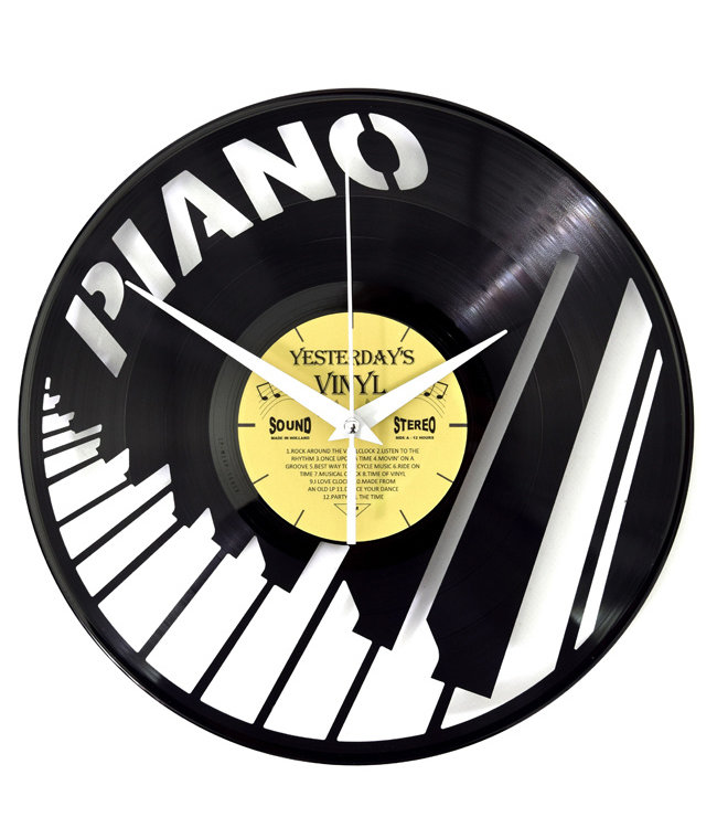Wandklok Vinyl Pianotoetsen