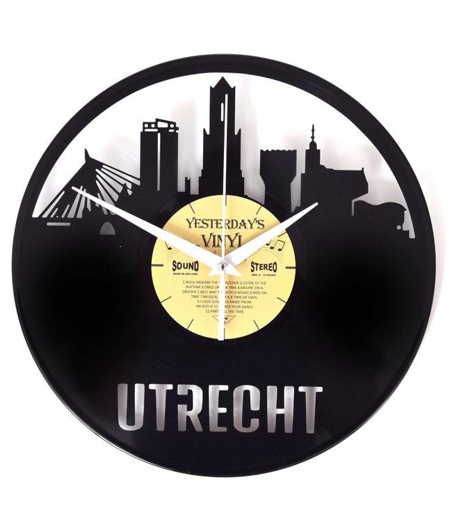 Wandklok Vinyl Skyline Utrecht