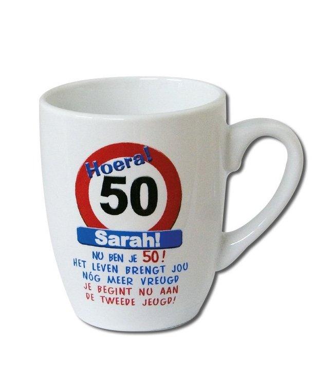 Mok Verkeersbord Sarah