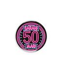 Neon button - Sarah 50
