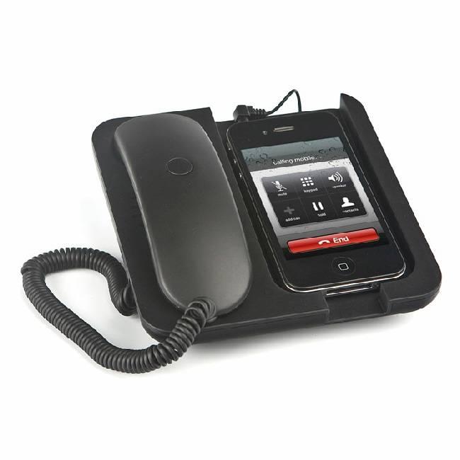 Zwarte Mobiele telefoonhouder en speaker Pronto!