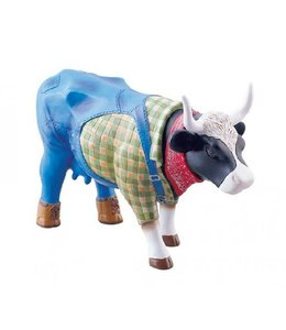 CowParade Cow Parade Farmer Cow (medium)