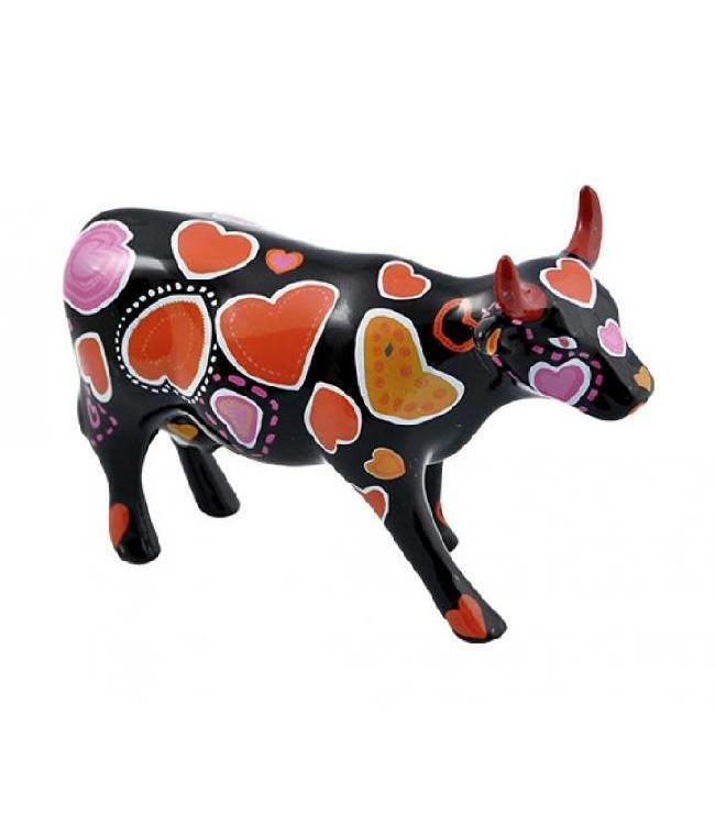 Cow Parade Cow-ween of Hearts (medium keramiek)