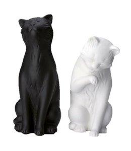 La Chaise Longue Boekensteun Katten, zwart-wit