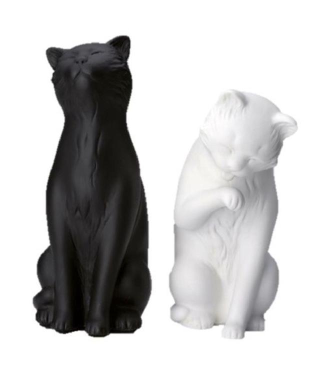 Boekensteun Katten, zwart-wit