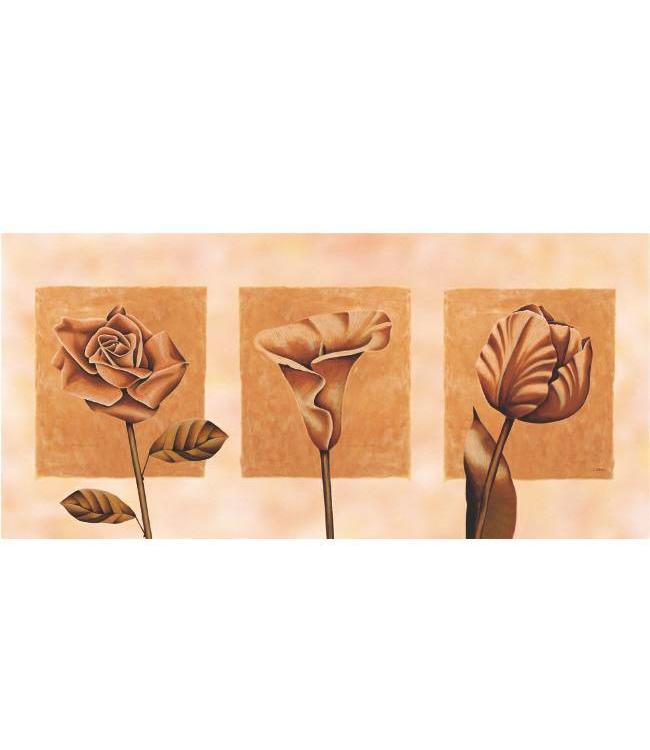 Ingelijste Posters: Abstracte Bloemen