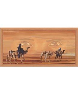 Ingelijste Posters: Kamelen karavaan in de woestijn