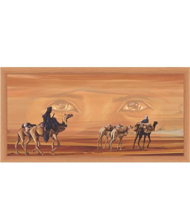 Kunstzinnige Ingelijste Posters: Kamelen karavaan in de woestijn