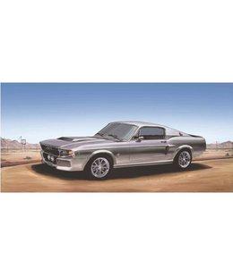 Ingelijste Posters: Route 66 Grijze Mustang