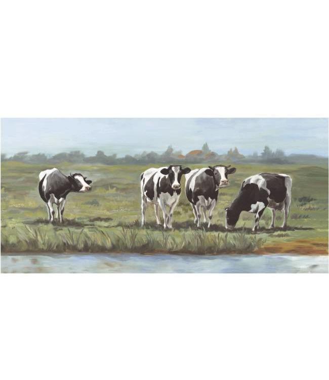 Ingelijste Posters: Koeien in Hollands Landschap