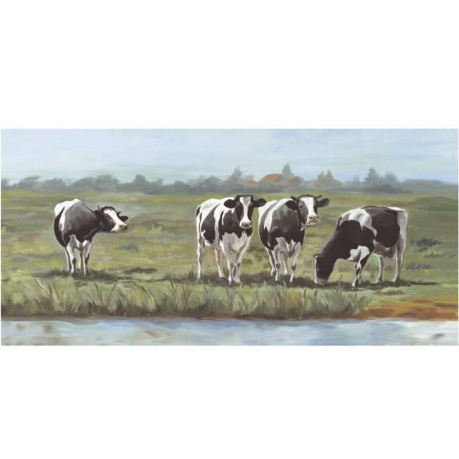 Kunstzinnige Ingelijste Posters: Koeien in Hollands Landschap