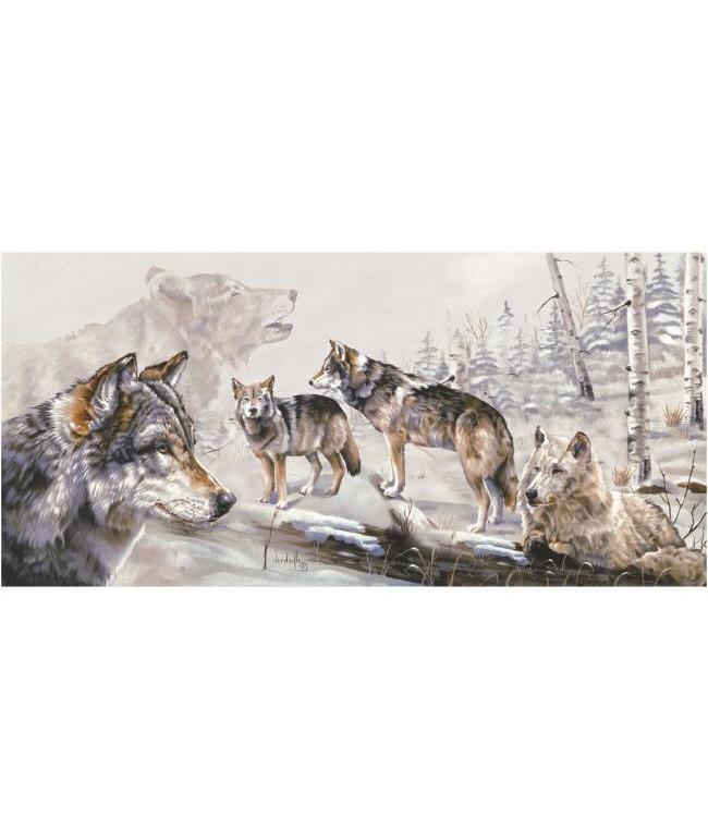 Ingelijste Posters: Wolven in het woud