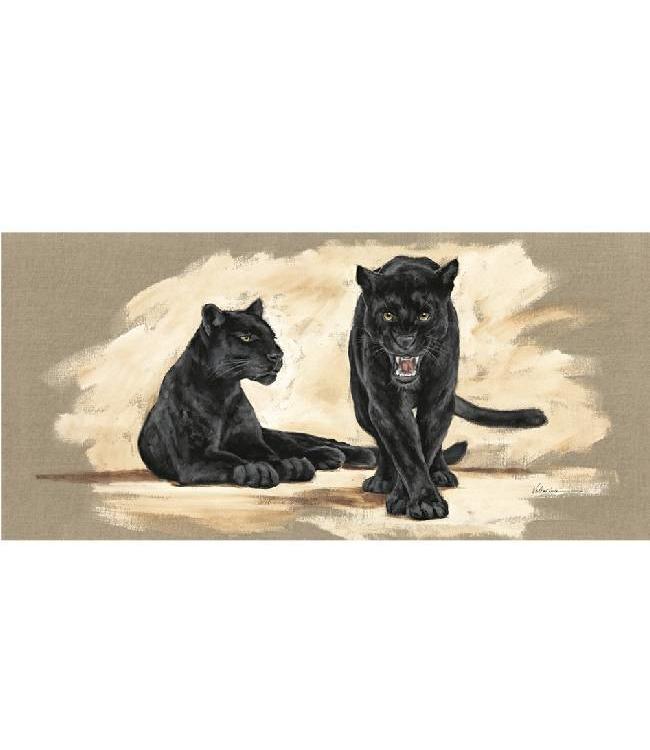 Kunstzinnige Ingelijste Posters: Zwarte Jaguar
