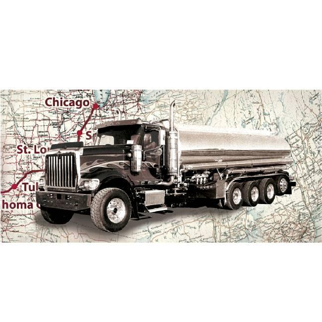 Kunstzinnige Ingelijste Posters: Route 66 Truck
