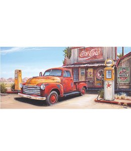 Ingelijste Posters: Route 66 Gas Station