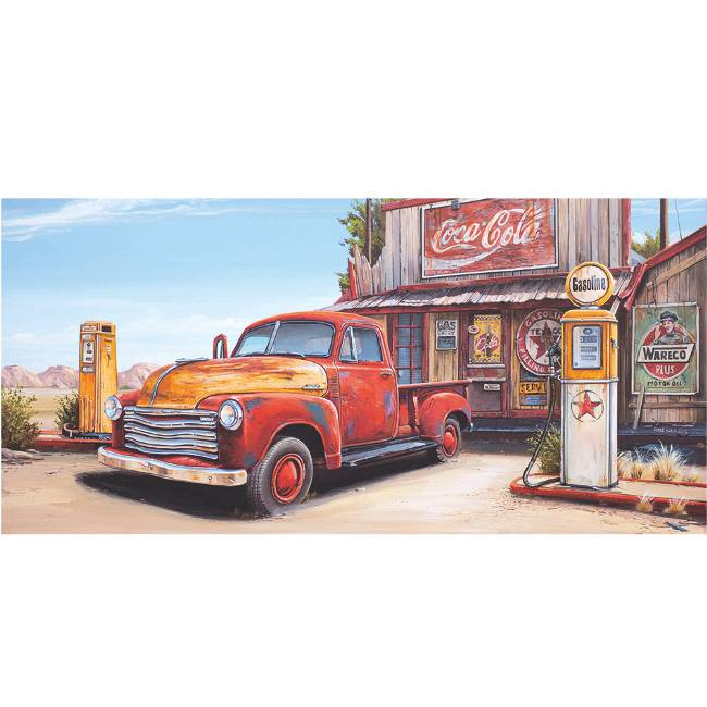 Kunstzinnige Ingelijste Posters: Route 66 Gas Station