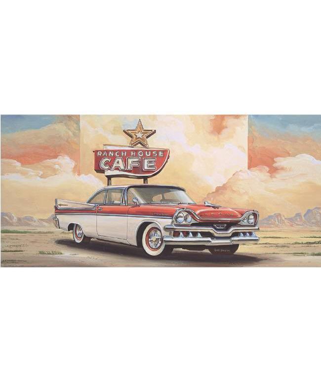 Ingelijste Posters: Route 66 Dodge in desert