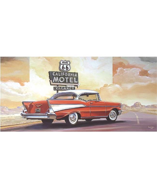 Kunstzinnige Ingelijste Posters: Route 66 California Motel