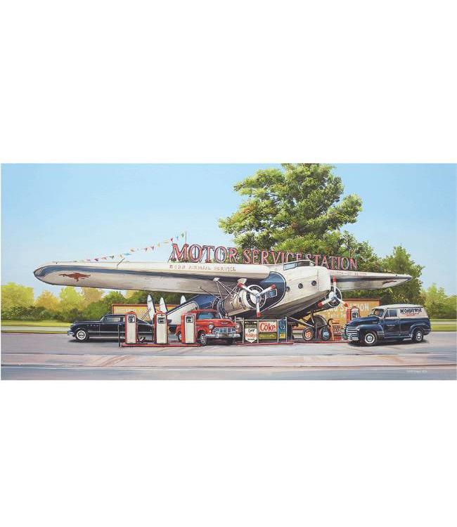 Kunstzinnige Ingelijste Posters: Route 66 Motor Service Station